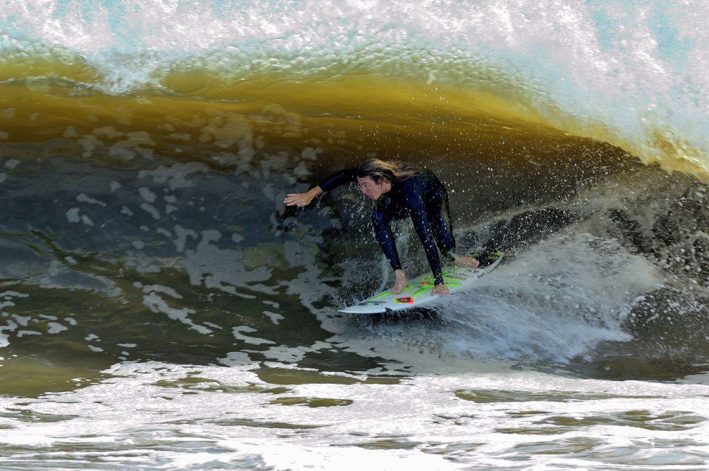 Alex Brooks Aftermath Surfboards Backside Barrel